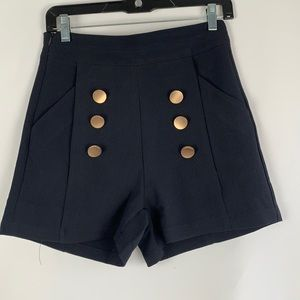 NEW Dark Navy Shorts with Gold Buttons